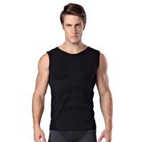 Wholesale Comfortable Clothing - Men's sleeveless body sculpting plastic clothing soft pressure comfortable breathable fast-drying sportswear vest