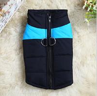 sosisli polar toptan satış-Sıcak Kış Köpekler Pet Kedi Yastıklı Yelek Coat Köpek Sıcak Aşağı Polar + Polyester Ceketler Giysi XS-XXXL