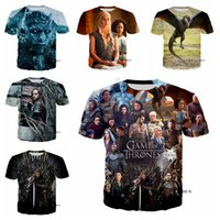 Wholesale game thrones 4xl - Newest Fashion Men Women Game of Thrones Summer Style Funny Unisex 3D Print Casual T-Shirt S---5XL AA698