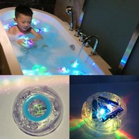 Wholesale Led Bathtub Lights - 20pcs Baby LED Bath Toys Party In The Tub Light Waterproof Funny Bathroom Bathing Tub LED Light Toys for Kids Bathtub Children Funny Time