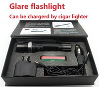 Wholesale Car Charging Flashlight - outdoor torch flashlight New 1101 Type Linternas Light Led car cigar lighter charge safety hammer Tactical Torch 18650(built-in Battery)