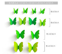 Wholesale Sticker Per Room - Cinderella butterfly 3d decoration of wall stickers 12pc per set 3d butterflies 3d butterfly pvc removable wall stickers butterflys