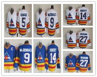 black apparels - Colorado Rockies Throwback Jerseys Cheap Lanny McDonald John Wensink Rob Ramage Rene Robert Blue White CCM Vintage Apparels