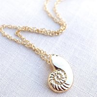 Sea shell pendants wholesale australia new featured sea shell hot beach style sea conch women shell necklace europe and america fashion statement necklaces csh 9871052 aloadofball Image collections