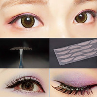 Wholesale double eye sticker - Wholesale Women waterproof breathable invisible double eyelid skin color beautiful eyes tapes reflective stickers free shipping