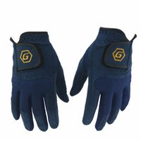 Wholesale Right Handed Glove - Free shipping wholesale a pair Men Golf Gloves Left   right Hand Breathable Microfiber Cloth Golf Gloves Outdoor sport gloves blue color
