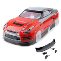 Wholesale Rc Car Body Road - RC AUSTAR AX29 Red Plastic Body Shell & Wing For 1 10th On-Road Car & Drift Car