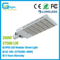 Wholesale Area Lighting Poles - 250W LED Street Light Outdoor Road Lamp Fixtures Parking Lots Pole LED Site and Area Lights Shoebox