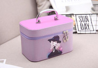 Wholesale Toiletry Storage Case - New Fashion woman cosmetic bags Travel bag Cosmetic Makeup Organizer toiletry storage case box
