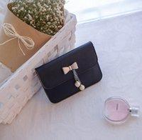 Wholesale Single Bead Drop - Newest Stylish Bowknot Shoulder Bags High Quality Woman Leather Handbag Ladies Designer Crossbody Bag Drop Shipping FA072