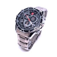 Wholesale Steel Spy - HD 1080P 8GB Spy Watch DVR Camera with IR Night Vision Waterproof Motion Detection Stainless Steel