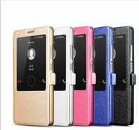 Custodia Flip Cover in pelle sottile smart cover per Huawei Ascend Mate 7 P7 P8 Honor 3X 4X Honor 6 6 Plus