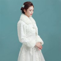 Wholesale Long Sleeved Cheongsam - Hot Sale New Winter Wedding Dress The Bride Long-Sleeved Jacket Cheongsam Fur Han Edition Shawl Small Coat