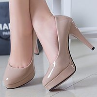 Wholesale Sexy Shoes Small Heels - The spring and autumn new fine heels shoes waterproof round shoes OL sexy women shoes 33 small occupation work code 42
