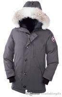 Wholesale man down winter jacket canada - Winter Chateau Parkas Hoodies Canada Long Zippers Brand Designer Down Jacket Men Fashion Design Warm Coat Outdoor Coats 3XL Plus Size