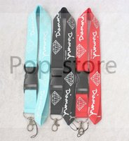 Suprimento limitado! Big DIAMOND padrão Lanyard ID Suporte do telefone celular Badge Neck Strap three colors.Free shiping