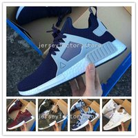 Wholesale Canvas Flats Shoes Kids - Top Quality Hot Cheap New NMD XR1 Men & Women Glitch Black White Blue Camo Adult Kids Children Running Shoes For men sports shoe Size 36-45