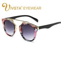Wholesale Punk Eyeglasses - IVSTA Womens Sunglasses So Summer real style Vintage Eyewear Cat eye eyeglasses Fashion Punk Glasses Woman Mirror Lenses 9887