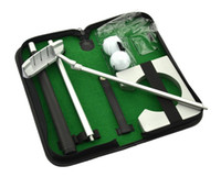 Wholesale Golf Practice Putting Cup - Executive Gift Portable Golf Putter Set Kit with Ball Hole-Cup for Travel Indoor Golf Putting Practice