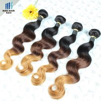 9A Ombre Brazilian Hair Weave Body Wave 4 Bundles T1b / 4/27 Straight Ombre Remy Extensions de cheveux humains Ombre Brazilian Body Wave Bundles