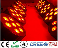 Wholesale Dmx Stage Light Bar - Bar, birthday party stage light CREE 7*9W RGB 3IN1 LED Luxury DMX 4 8 Channels Led Flat Par Light