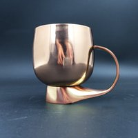 Wholesale Stainless Flare - Old Dutch Stainless Steel Tumbler Solid Copper Flared Moscow Mule Glasses Antique Finish Reusable Red Wine Glasses
