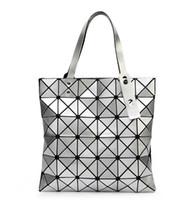 Wholesale Interior Art - Fashion Lady Origami Art Geometry Handbag Women Lucent Laser Effect Tote Bag 6 colors 1 pcs drop ship