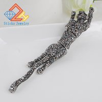 Wholesale Leopard Crystal Brooch - Grade Leopard Crystal Broochs for Women Jewelry Lovely Woman Gifts Free Shipping