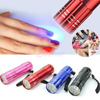 Wholesale Uv Nail Dryer Lamp Flashlight - Mini LED Flashlight UV Lamp Nail Dryer Portable For Nail Gel 15s Fast Dry Cure DHL free shipping