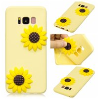 Wholesale Mobie Phones - Cover Cases For Samsung Galaxy S8 Plus Coque Candy Silicone Stereoscopic Sunflower Cactus Ice cream Fruits Soft silica gel Mobie Phone Case