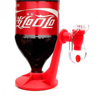 Wholesale soda cola resale online - 200pcs Mini Upside Down Drinking Fountains Fizz Saver Cola Soda Beverage Switch Drinkers Hand Pressure Water Dispenser Automatic IB063