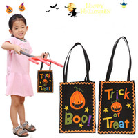 Wholesale shop product resale online - Home Garden Halloween decoration products creative Halloween pumpkin gift bag shopping mall Halloween gift bag