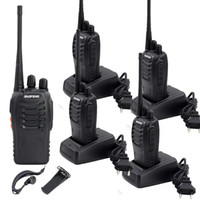 Wholesale Uhf Voice - 2 pcs BAOFENG BF-888S Walkie Talkie UHF 400-470MHz 5W 16 Channel VOX Flashlight Scan Monitor Voice Prompt Single Band Two Way Radio