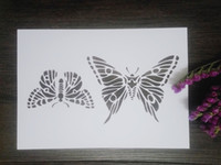 Wholesale Mask Painting Butterfly - Cheap white washable friendly stencils Masking template For Scrapbooking,cardmaking,painting,DIY cards- The butterfly 104
