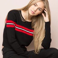 Wholesale Stripe Long Sweater Slim - Wholesale-Brandy Melville Women Slim Ribbed Stripe Sweater Long Sleeve Jumper Casual Knit Tops Pullover