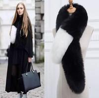 Wholesale Womens Fur Scarves - Length 120CM womens winter newest fashionable scarf luxury brand scarves fox fur scarfs foulards echarpe hiver femme fulares mujer schal