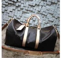 Wholesale Messenger Bag Brand Men - 55CM Brand designer men women luggage handbag Sport&Outdoor Packs shoulder Travel bags messenger bag Totes bags Unisex handbags Duffel Bag