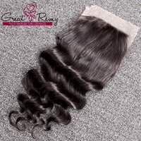 Wholesale Retail Virgin Hair - loose deep wave virgin remy indian hair retail greatremy factory outlet human hair lace closure full cuticle top closure 8-26inch