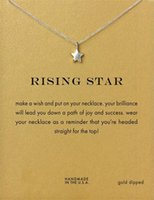 Hot Shape Rising Star Dogeared Necklace Mulheres bonitas Choker Clavicle Jewelry Gift