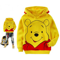 Wholesale kids bear hoodie - Kids Sanded fabric Bear Sweatshirt Toddler Boy hoodie Autumn spring Children Shirt Long Sleeve Clothes baby boy girl Clothing