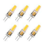 led spot 2w rohs toptan satış-G4 Ampul Lambası, Sıcak Beyaz 2W, 210lm, 12V DC / AC, 360 ° ışın açısı, 20W Halojen lambalar Eşdeğer