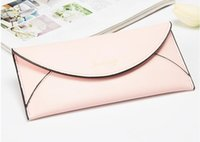 Wholesale Leather Handbag Materials - 2017 fashion lady evening bag many colors clutch bag evenlop handbag with good quality PU materials Free shipping