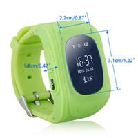 Wholesale Gsm Gprs Watch Phone - q50 Smart Phone Watch Children Kid Wristwatch G36 Q50 GSM GPRS GPS Locator Tracker Anti-Lost Smartwatch Child for iOS Android