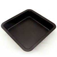 FDA black square dishes - square Black Brownie cake baking tray Non stick carbon steel Cake Baking tools cake Factory price well packaged
