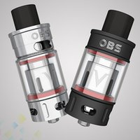 Wholesale high capacity power - Authentic OBS V Tank Sub Ohm Atomizer 5.2ml Large Capacity Smoky High Power Silver Black E Cigarette DHL Free