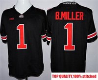 Wholesale 1917 Baseball - 2017 2016 Ohio State Buckeyes J.T Barrett 16 College Football 1917 Throwback Limited Jersey black white ncaa cheap Red WHOLESALE Size S-3XL