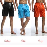 Wholesale Quick Drying Swim Trunks - Quick Dry Surfing Sport Pants Solid Color Men's Boardshorts Summer Swim Trunk Beachwear MK6035