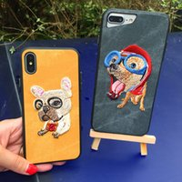Wholesale Embroidery Cases Iphone - KOOSUK Phone Case For iPhone 6 6S 7 8 plus X Case Chinese wind Traditional 3D Embroidery 360 Full Protection phone back coverl