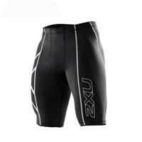 Wholesale Tights Shorts For Men - Hot Men fashion shorts Men's Compression Tights Shorts Bermuda Masculina Men Short Pants for Cycling Running Gym Stadium