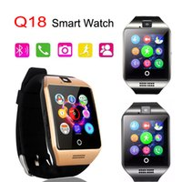 Wholesale Gsm Camera For Home - Q18 Smart Watch GSM Sim Card Bluetooth For Android IOS Phone with 0.3M Camera Support TF Card Connection Wrist Watches with Retail Package